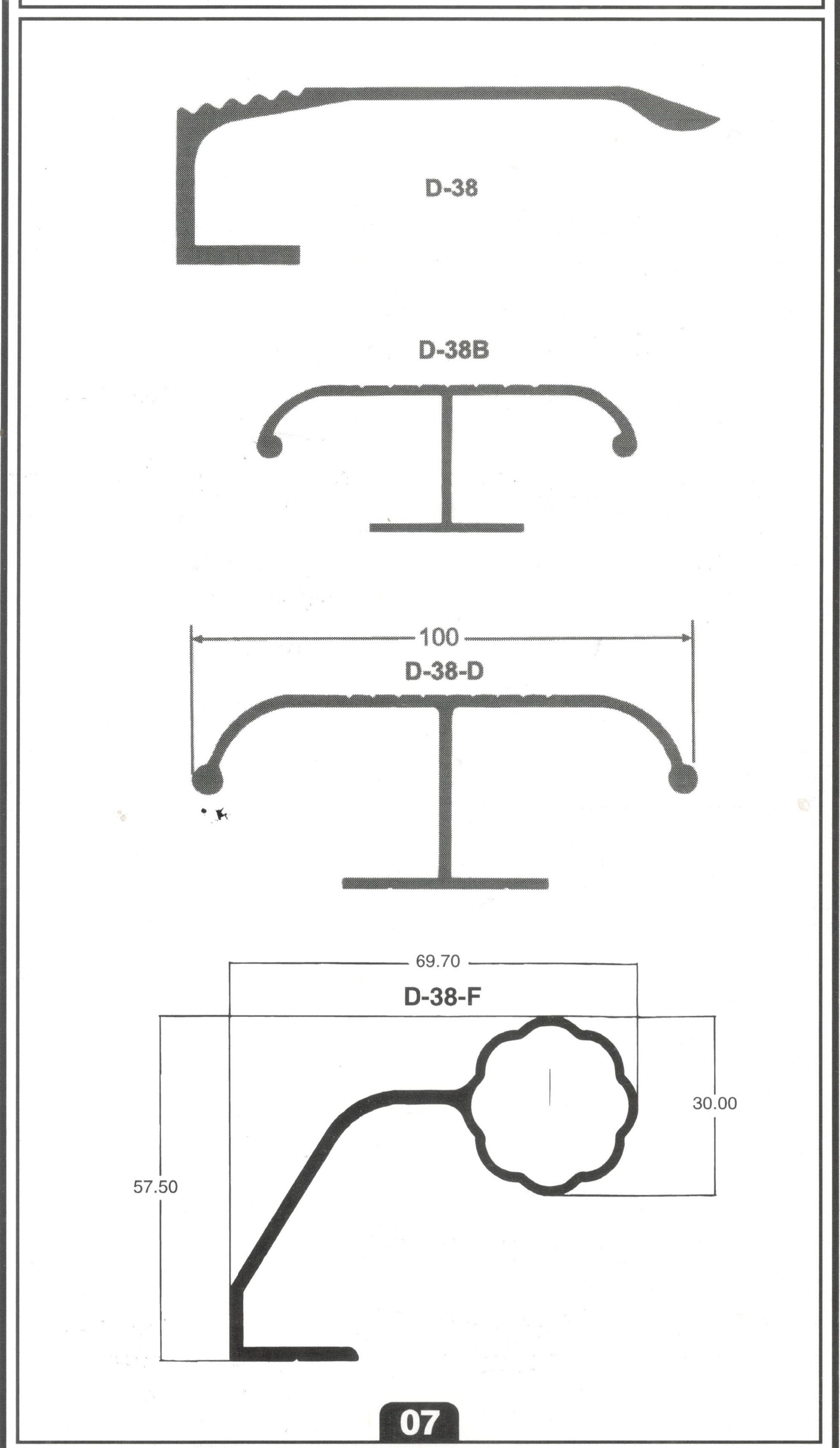 DOOR HANDLE SECTIONS
